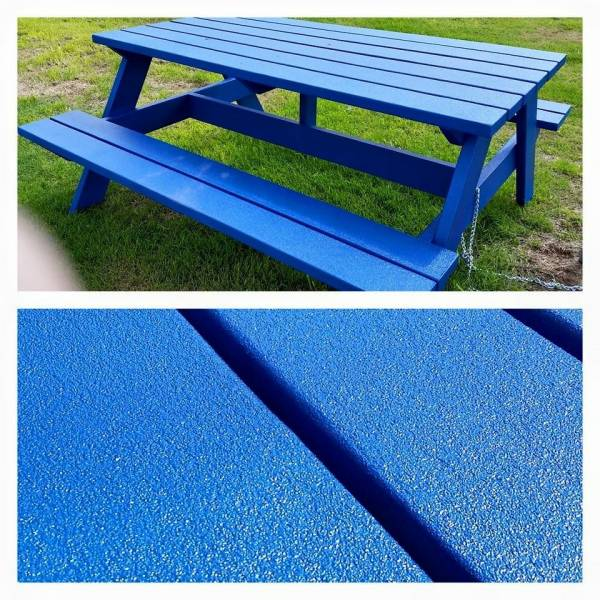 Coated Picnic Table