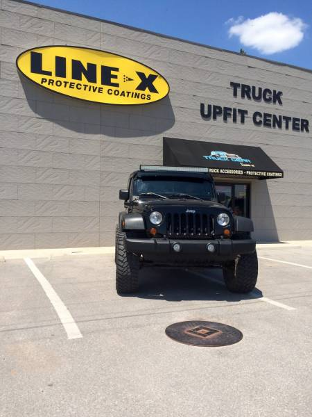 Jeep Wrangler with Light Bar and Window Tint